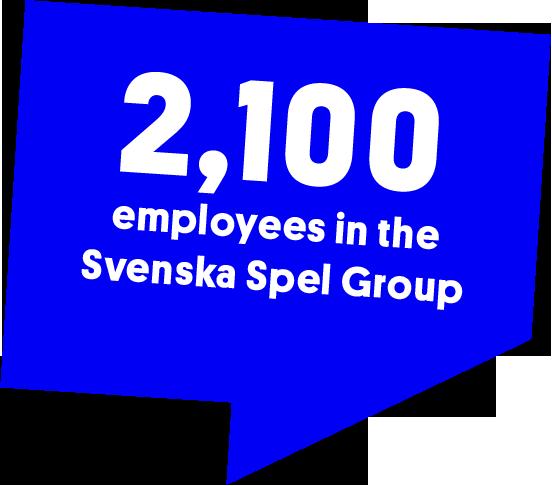 2,100 employees in the Svenska Spel Group