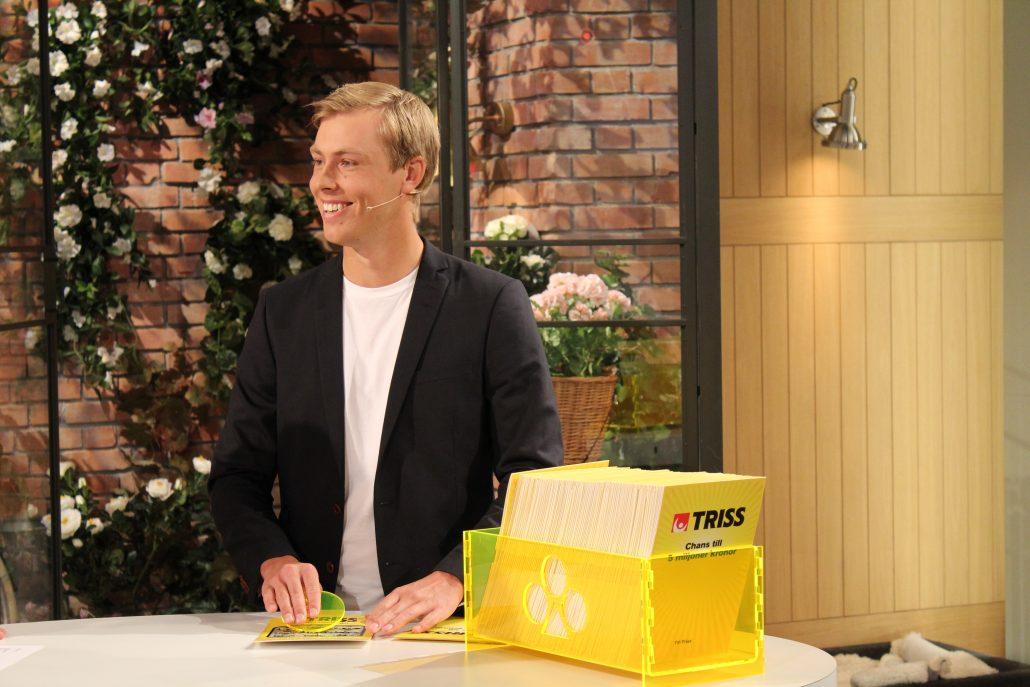 Golftalangen Jesper Svensson vann 100 000 kronor på Triss
