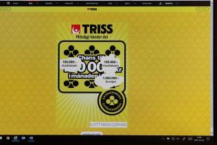 En man i Göteborg blev miljonär efter att ha skrapat Triss på datorn.