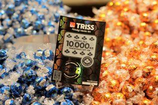Den första historiska Dagsvinsten hamnade hos en kvinna i Trelleborg som köpt sin Triss Premium på nätet
