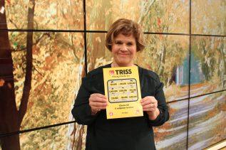 Catharina Hansson vann 250 000 kronor på Triss.
