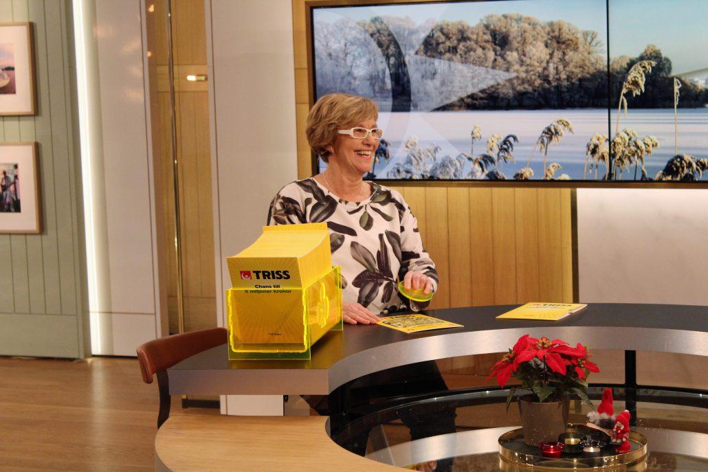 Anna-Greta från Lycksele firade makens 70-årsdag med att vinna 250 000 kronor på Triss.