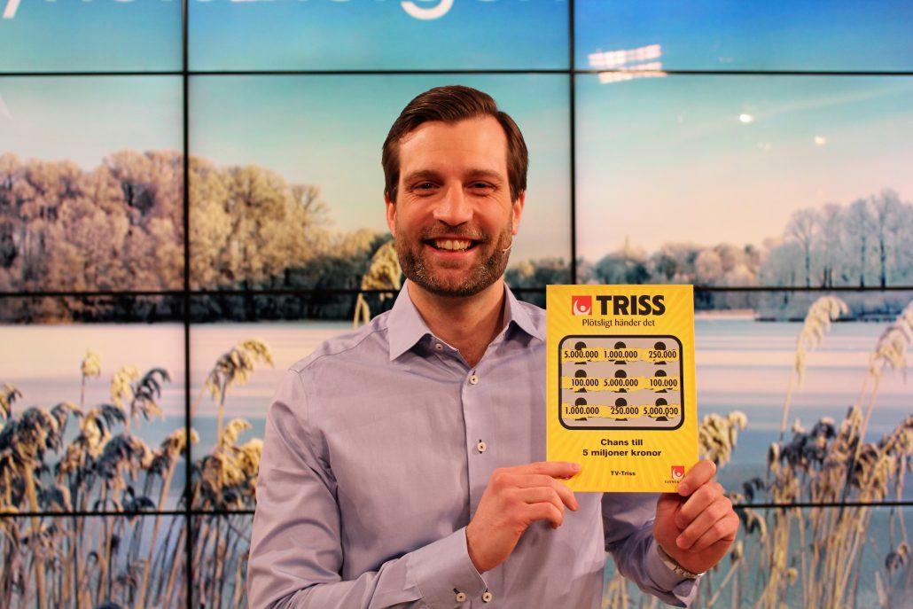 Markus Sundberg och hans sambo får verkligen nya förutsättningar inför sitt planerade husköp efter storvinsten på Triss.