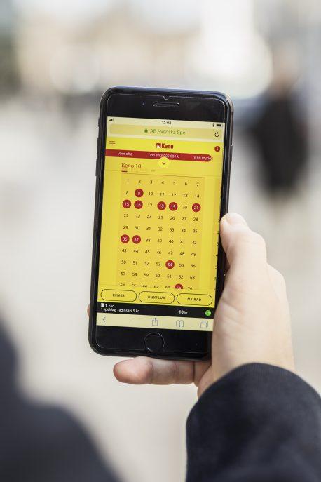 Mångmiljonspelet var inlämnat på Svenska Spels hemsida. Foto: Adam Wrafter / BILDBYRN / Cop 233