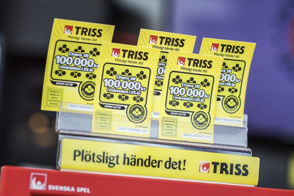 Den person som köpte sin Triss på Coop Forum har nu chansen att bli miljonär. Foto: Adam Wrafter / BILDBYRN / Cop 233