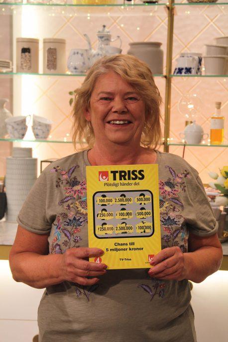 Monica från Nybro kommun skrapade Triss i TV