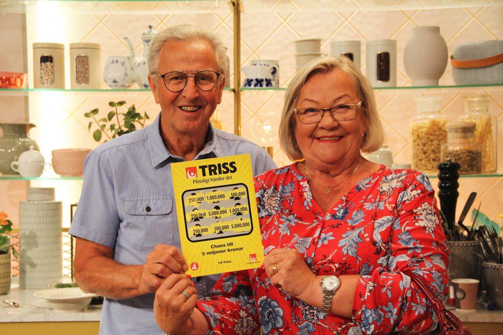 Annica och Hans från Ulricehamn vann en kvarts miljon kronor på Triss