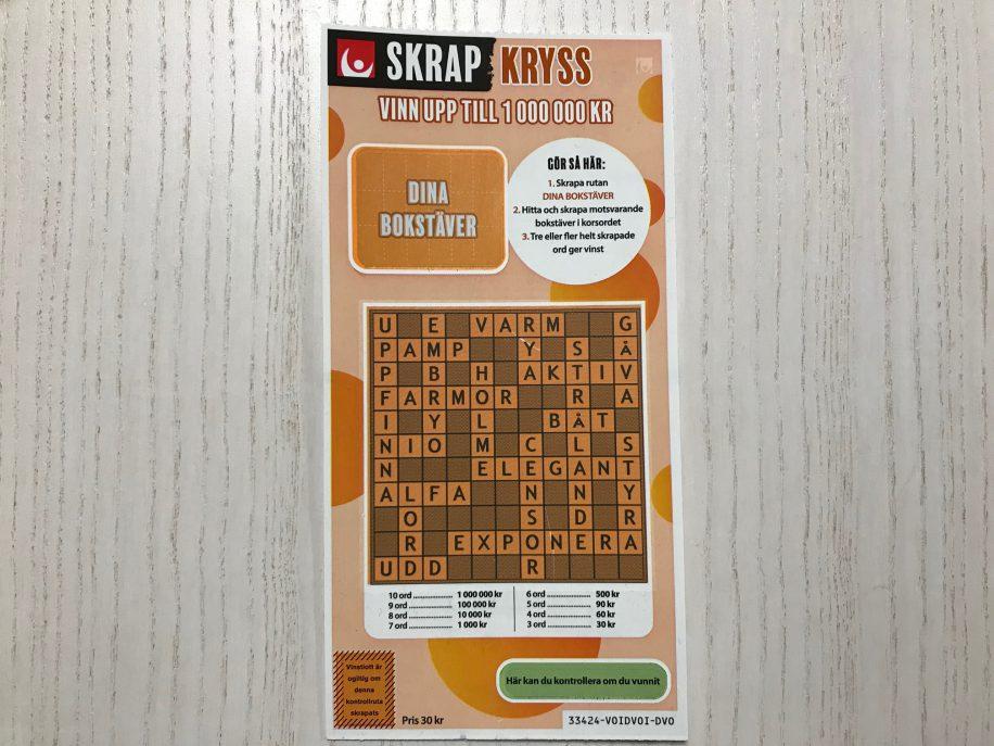SkrapKryss är en av Svenska Spels olika skraplotter.