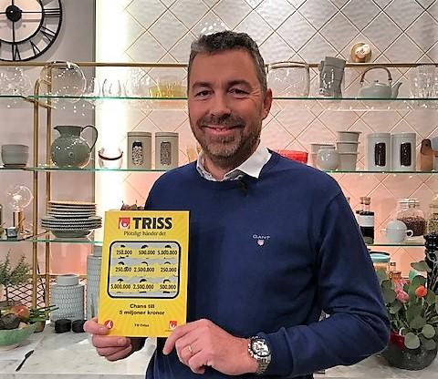 Robert Hansson vann 250 000 kronor på Triss.