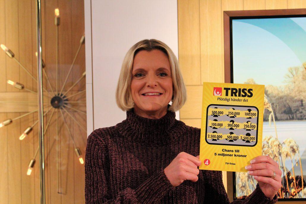 Pernilla Lindqvists julhelg inleddes med en halv miljon kronor i vinst på Triss.