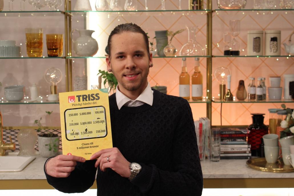 Ludwig Nortorp vann 250 000 kronor på Triss.