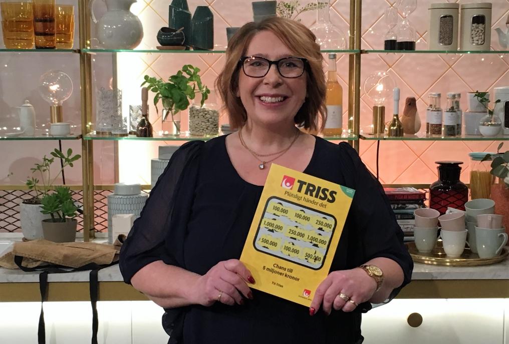 Lisa Bång vann 100 000 kronor på Triss.