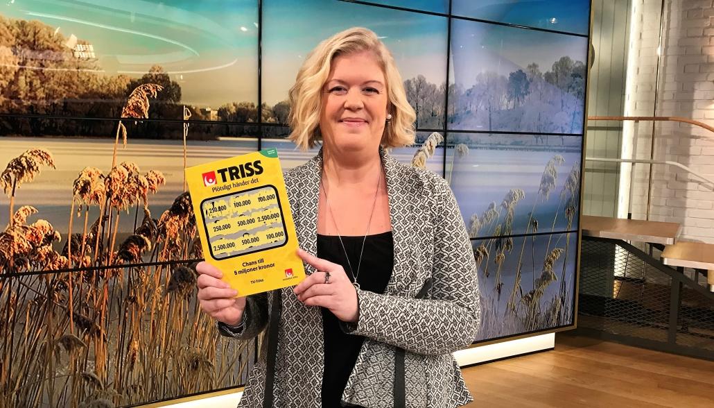 Lotta Weiland vann 100 000 kronor på Triss.
