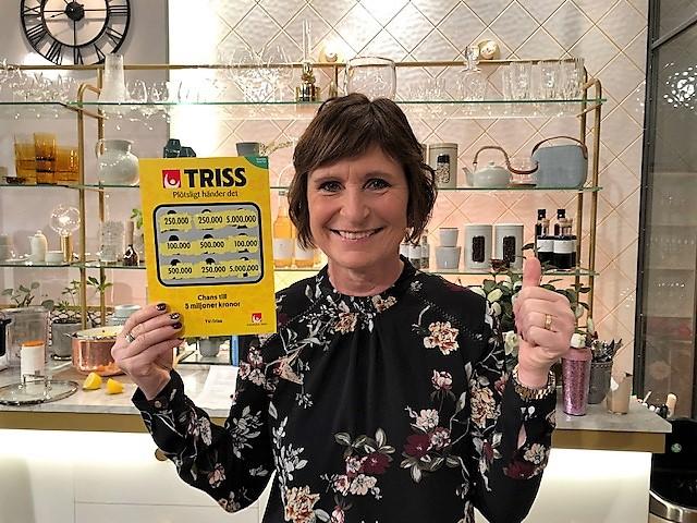 Rose-Marie från Falköping vann 250 000 kronor på Triss.