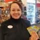 Jennie Noréhn är spelansvarig i butiken som nu sålt sin första Triss med tv-vinst.