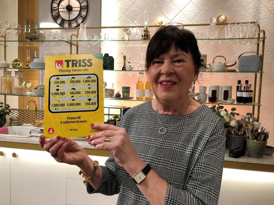 Barbro vann 250 000 kronor när hon skrapade Triss.