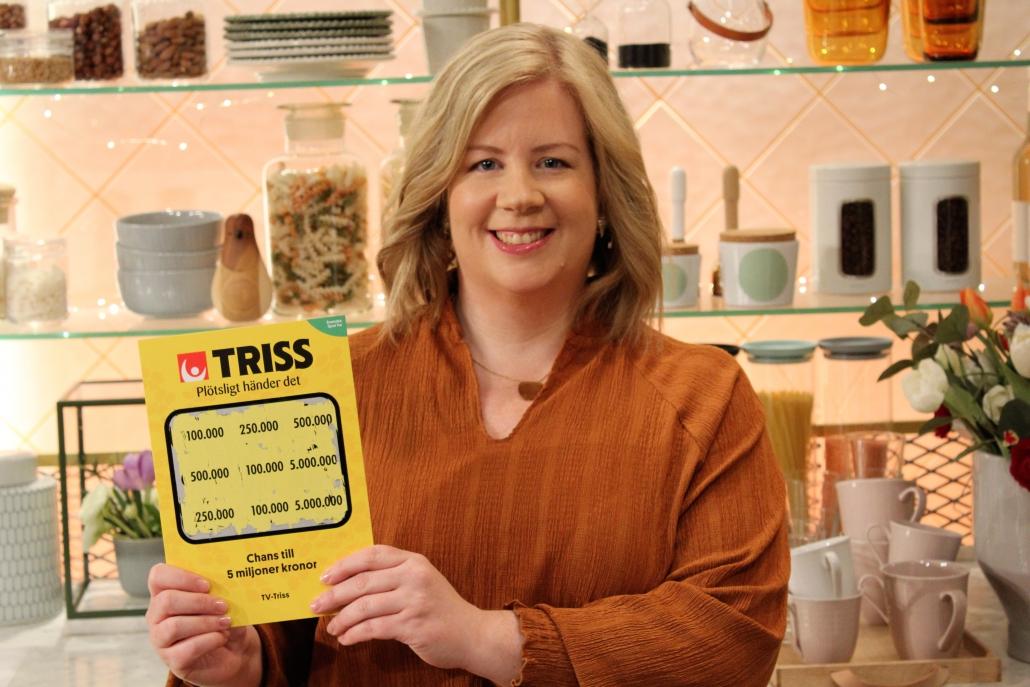Sara Ekblad från Örebro vann 100 000 kronor på Triss i TV4.