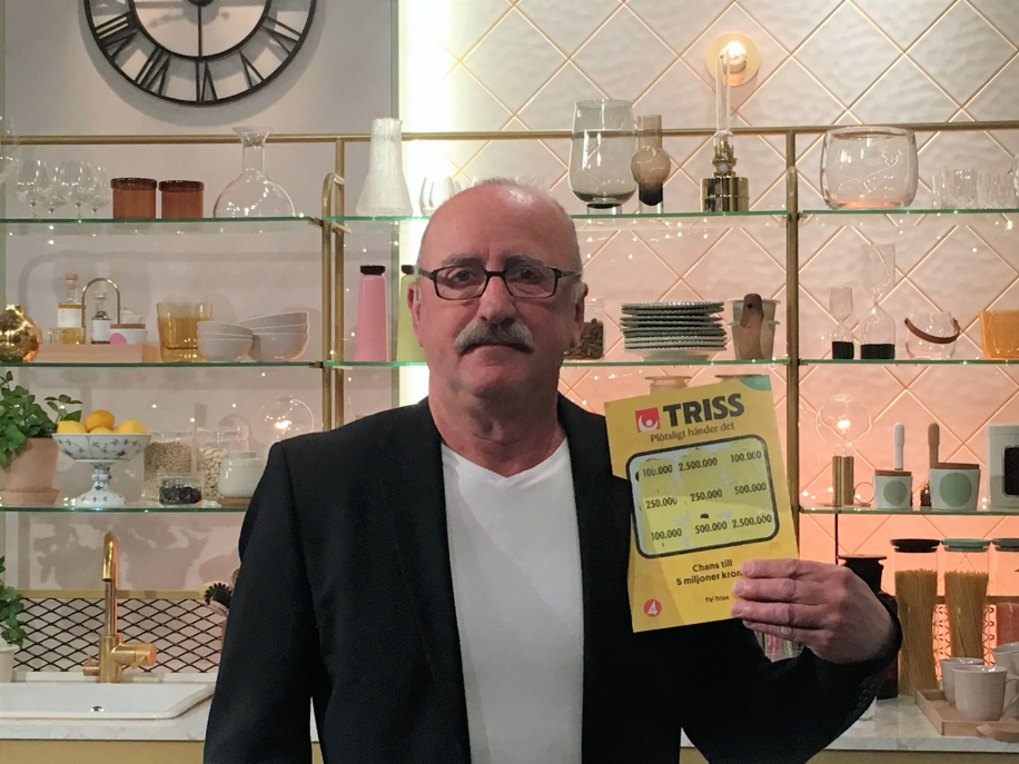 Rolle Berg vann 100 000 kronor när han skrapade Triss i TV4.