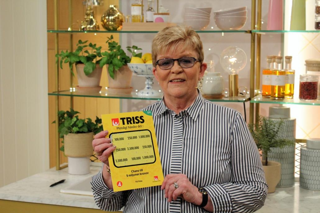 Sonja Olsson vann en kvarts miljon kronor på Triss.