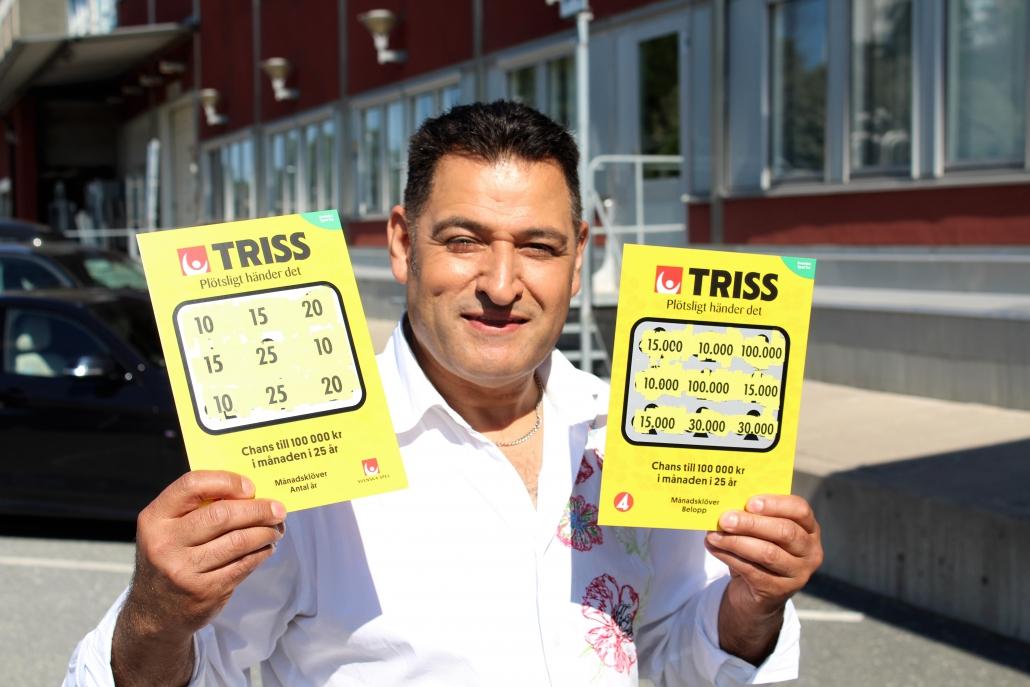 Oscar vann 15 000 kr i månaden i 10 år när han skrapade Triss i TV4.