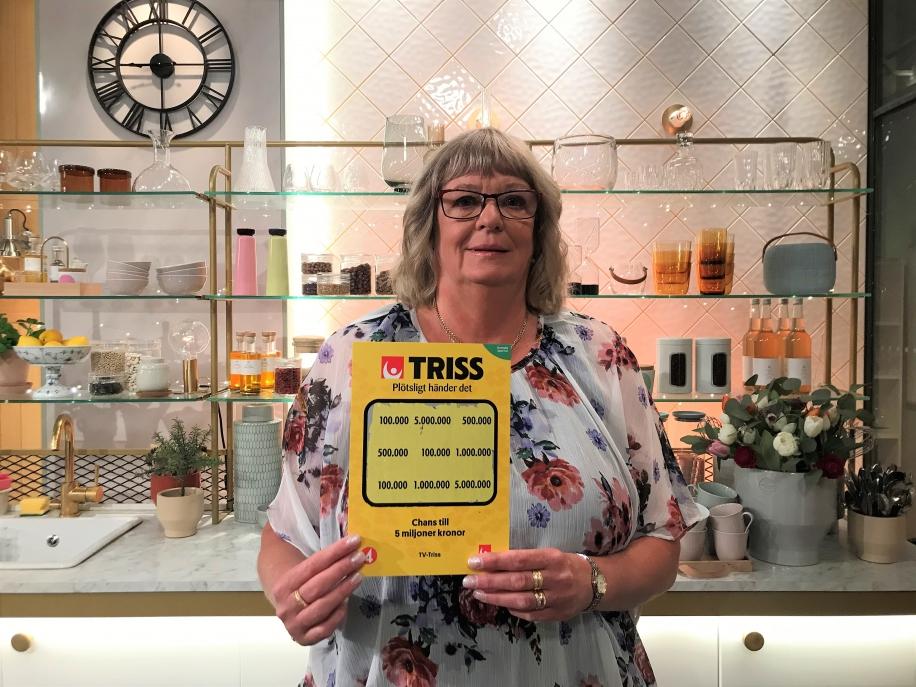 Lisbeth Svensson vann 100 000 kronor när hon skrapade Triss i TV4.