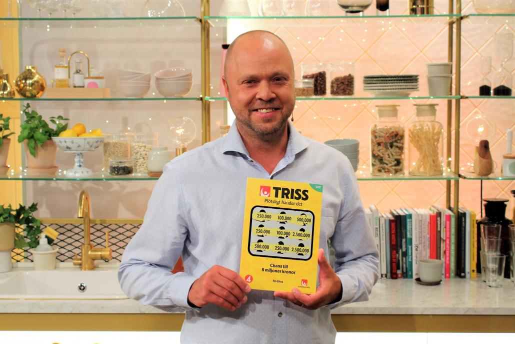Lars Milde vann 250 000 kronor när han skrapade Triss i tv.