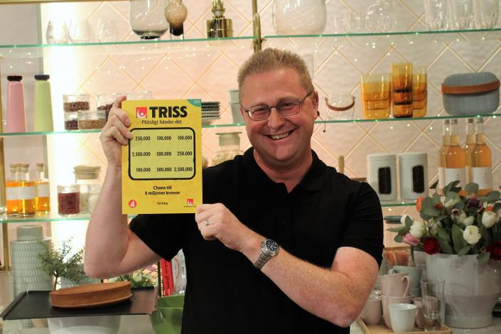 Peter Andersson vann 100 000 kronor på Triss.