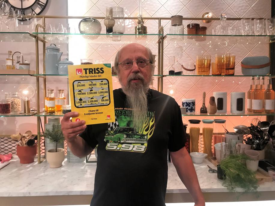 Christer från Kristinehamn vann 100 000 kronor på Triss.