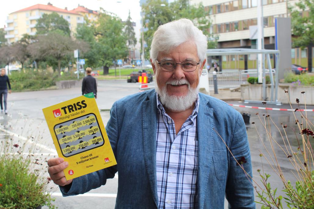 Jan vann 250 000 kronor när han skrapade Triss i Nyhetsmorgon.