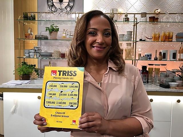 Scarlen Ferraras vann 250 000 kronor på Triss i tv.
