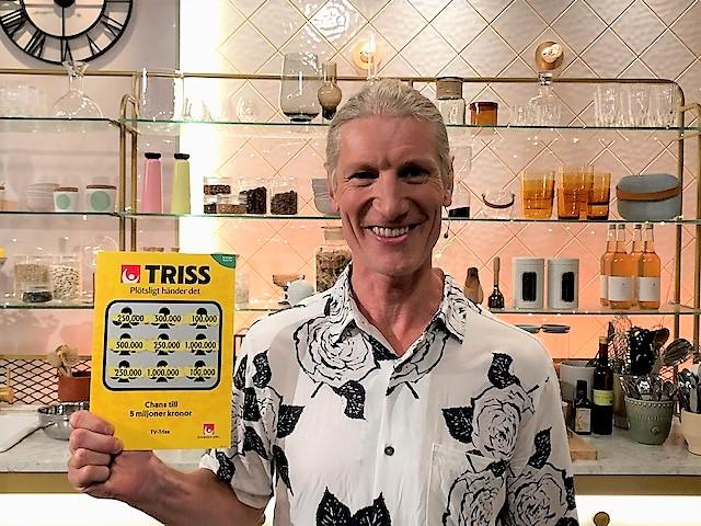 Torbjörn Olsson från Nacka vann en kvarts miljon kronor på Triss.