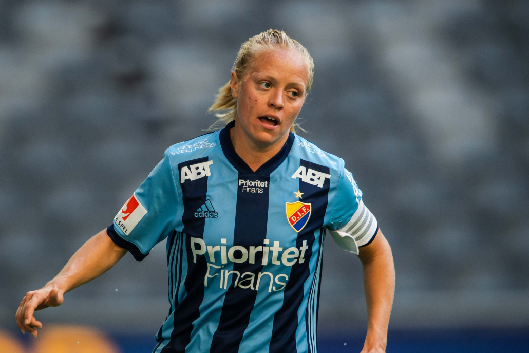 Mia Jalkerud, Månadens spelare i OBOS Damallsvenskan i oktober. Foto: Maxim Thoré / BILDBYRÅN