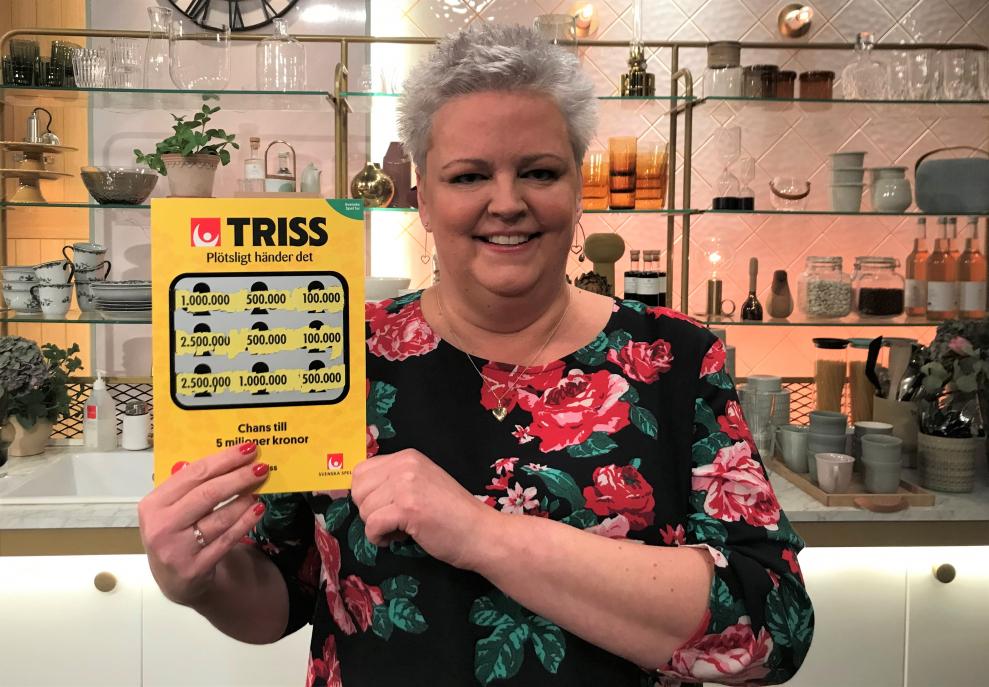 Umeåbon Susanne Mörén vann en halv miljon kronor på Triss i tv. Glädjen visste inga gränser och nu måste hon göra en ny plan för vinsten hon inte räknat med.