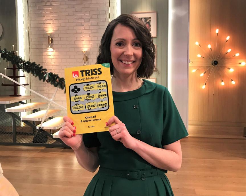Jeanette Södermark och hennes man från Johanneshov vann 100 000 kronor på Triss i tv. Pengarna planerar de att lägga på en bröllopsresa till New York fyra år efter bröllopet.