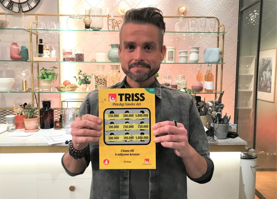 Kristinehamnsbon Lars Thun skrapade fram en kvarts miljon kronor på Triss i tv åt sin pensionerade mamma.