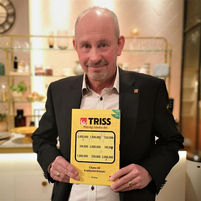 Ängelholmsbon Lars Olsson skrapade fram 5 miljoner kronor på Triss i tv tack vare turnummer 33.
