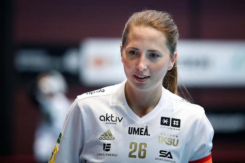 IKSU:s Emelie Wibron tog emot beskedet om den inställda säsongen med blandade känslor, men är ändå stolt över vad hon och lagkamraterna presterat under året. Foto: Per Wiklund / BILDBYRÅN / COP 124