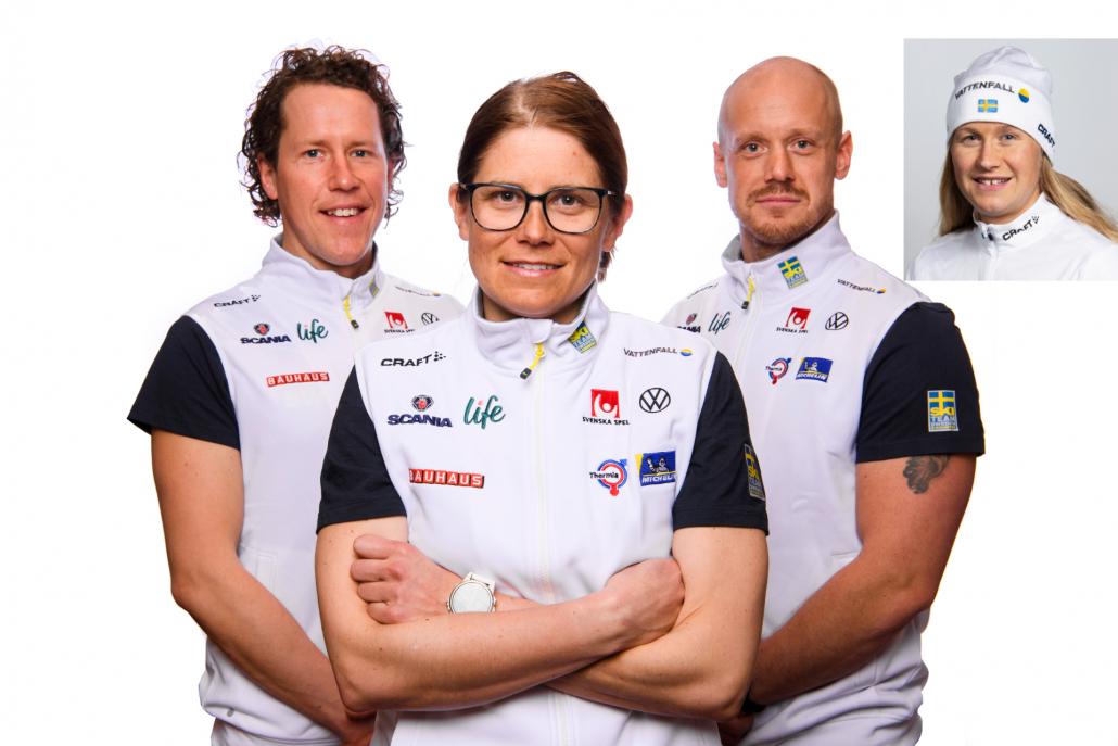 Andreas Domeij, Ida Ingemarsdotter, Mattias Nilsson och Martina Höök är de tränare som ska ansvara för Team Svenska Spel.