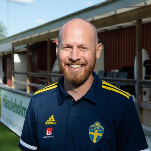 Johan Claesson,Integrity Officer på Svenska Fotbollförbundet, och den som håller i matchfixningsutbildningarna. Foto: Claes Brauer