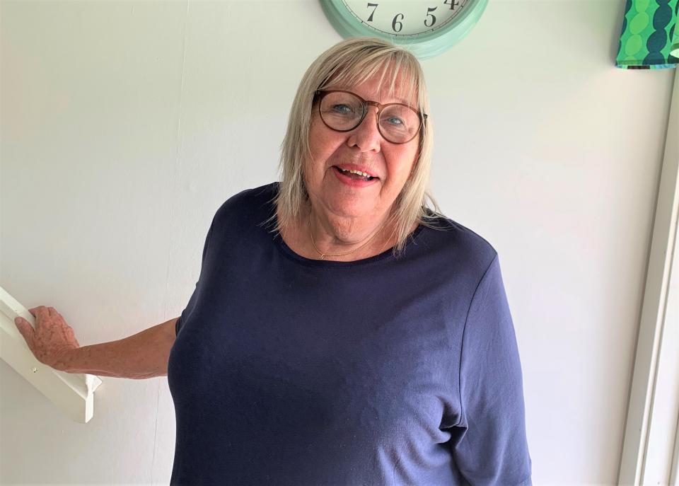 Orustbon och pensionären Lena Simonsson skrapade fram tre tv-rutor på en läcker Trisslott i somras. Den lotten tog henne till TV4 Nyhetsmorgon där hon skrapade fram 100 000 kronor till en ny garageport och en Italienresa.