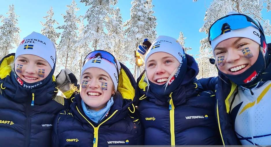 Det svenska stafettlaget tog junior-VM-guld.