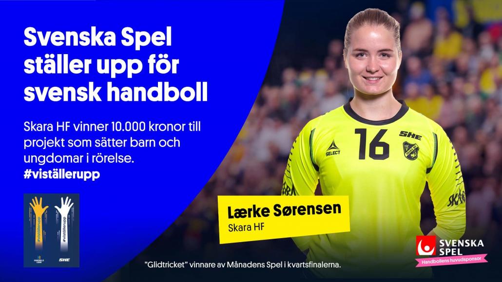 Lærke Sørensen är fansens favorit i Månadens Spel efter Kvartsfinalerna.