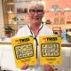 Pensionären Britt-Louise från Jävrebyn vann 1,8 miljoner kronor på Triss till en dyr vas och välgörenhet.