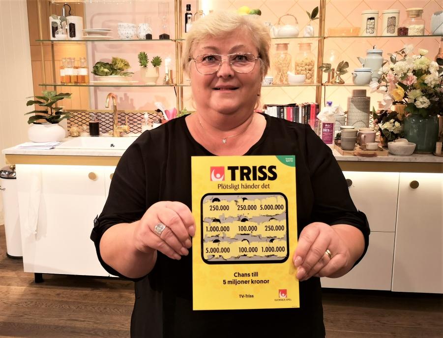 Sandvikens första trissvinnare i tv för året blev Britt-Marie som får glädjas åt 250 000 kronor till drömresan till Australien.