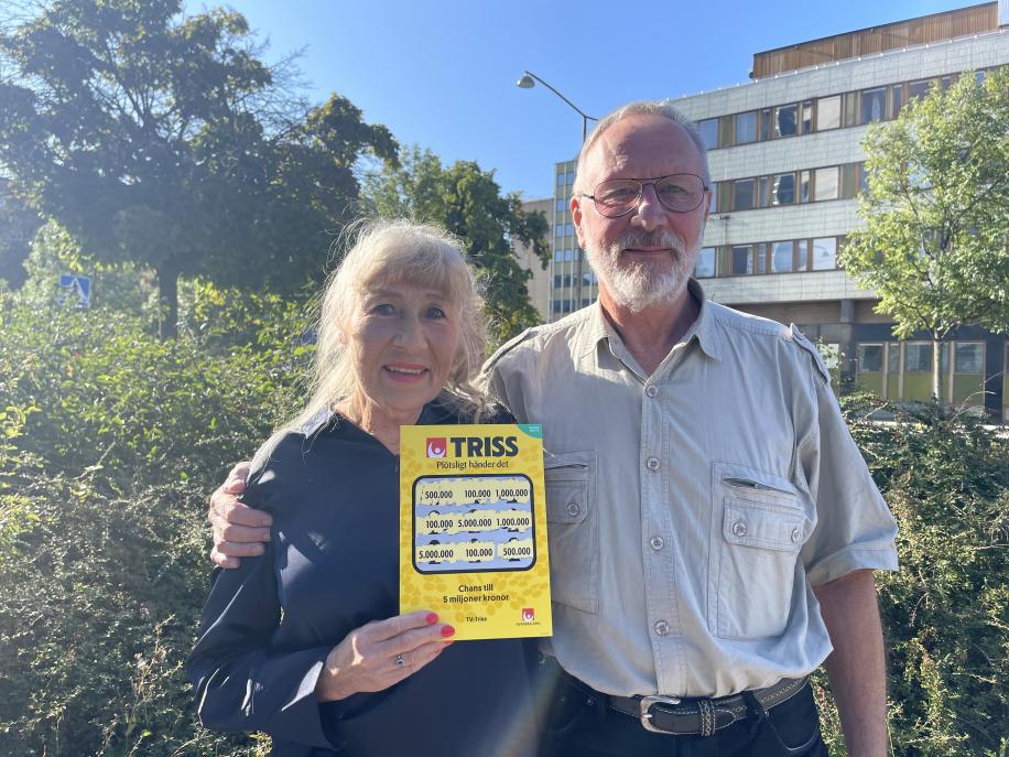 Par från Tormestorps skrapade Triss i TV4 Nyhetsmorgon