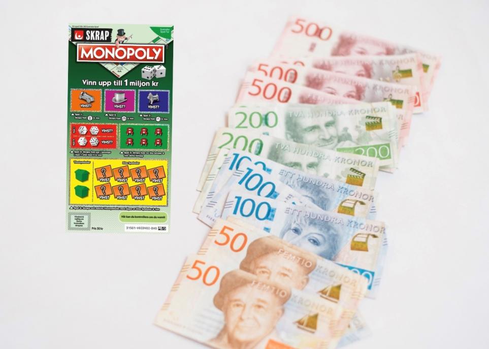 Visbykvinna blev först att ta hem miljonvinst på nya SkrapMonopoly.