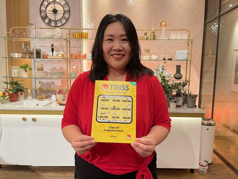Cao från Göteborg vann 100 000 kronor på Triss – reser till Thailand